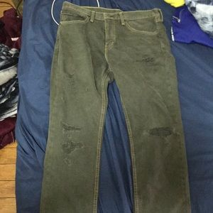 Distressed Olive green Levi's
